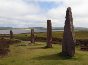 Standing stones Orkney Isles