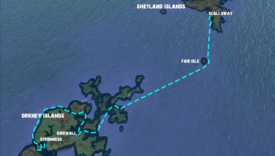 Sailing voyage Z04: Discover the Shetland's, Orkney's & Fair Isle ...