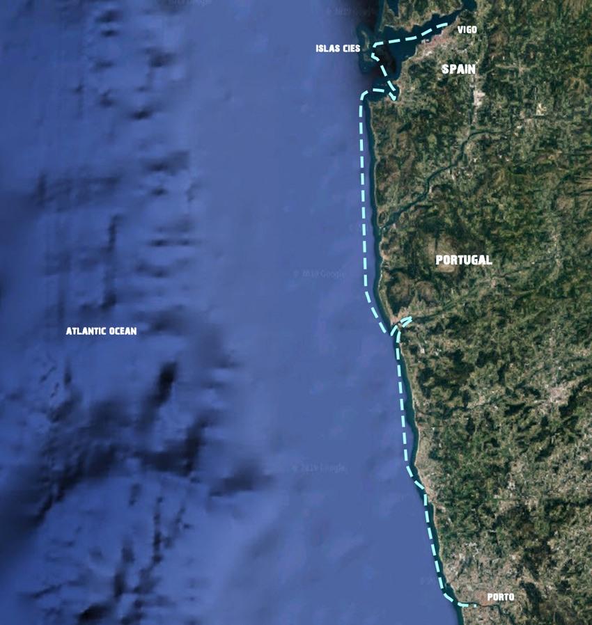 Sailing holidays Vigo-Porto